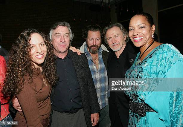 Daphna Kastner wife of actor Harvey Keitel actor Robert De Niro director Julian Schnabel actor Harvey Keitel and Grace Hightower attend the Tribeca...
