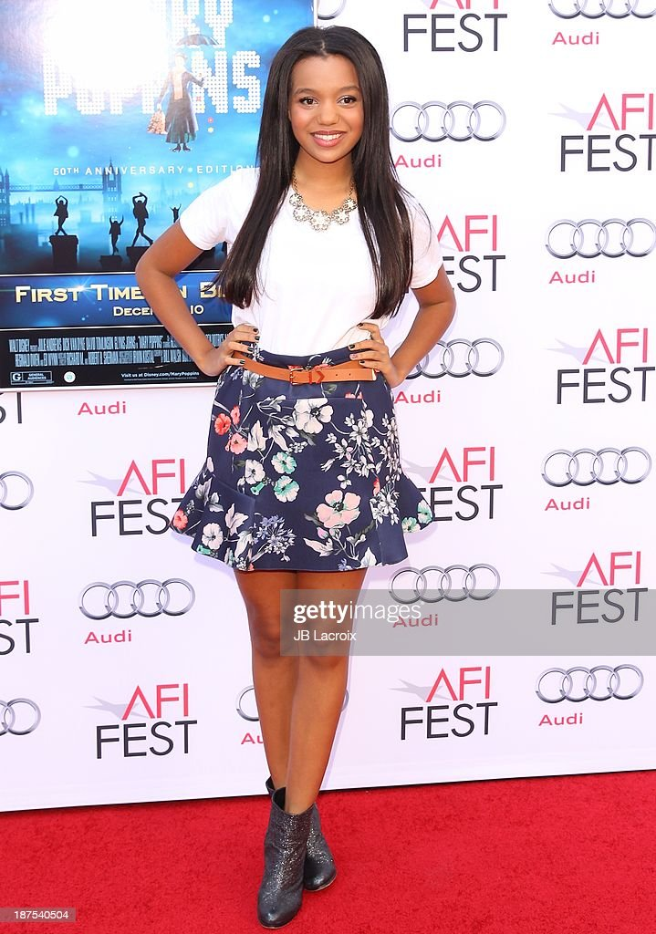 <a gi-track='captionPersonalityLinkClicked' href=/galleries/search?phrase=Daphne+Blunt&family=editorial&specificpeople=7131589 ng-click='$event.stopPropagation()'>Daphne Blunt</a> attends the AFI FEST 2013 Presented By Audi - 'Mary Poppins' 50th Anniversary Edition held at TCL Chinese Theatre on November 9, 2013 in Hollywood, California.