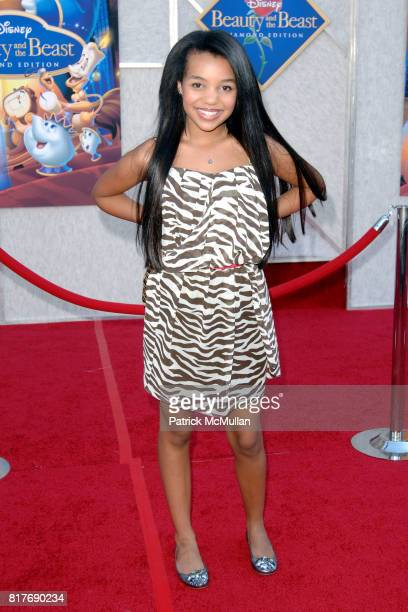 Daphne Blunt attends WALT DISNEY STUDIOS HOME ENTERTAINMENT HOSTS A SINGALONG PREMIERE OF BEAUTY AND THE BEAST at El Capitan Theatre on October 2...