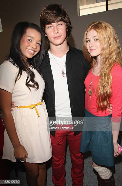 Daphne Blunt Evan Hofer and Katharine McNamara attends the 'Celebrity Stuffathon' benefiting the My Stuff Bags Foundation held at the CBS Studios...