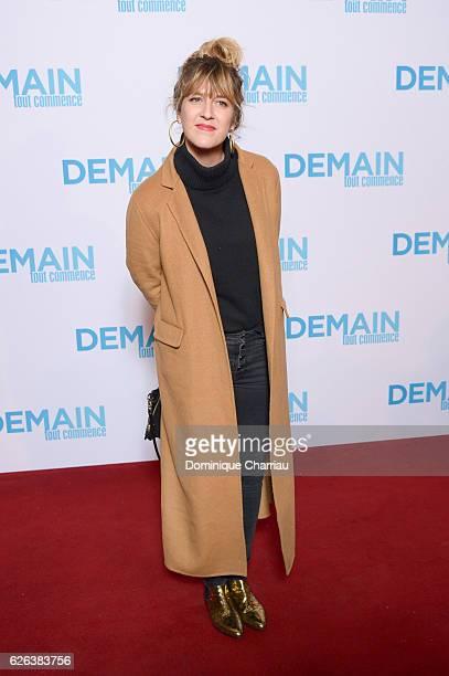 Daphne Burki attends the 'Demain Tout Commence' Paris Premiere at Le Grand Rex on November 28 2016 in Paris France