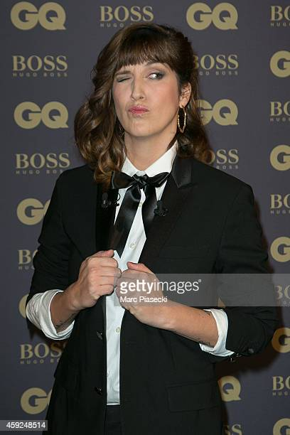 Daphne Burki attends the 'GQ Men of the Year 2014' photocall at Musee d'Orsay on November 19 2014 in Paris France
