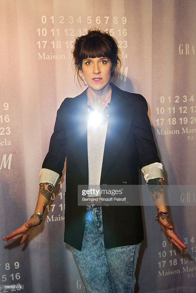 Daphne Burki attends the Maison Martin Margiela for H&M collection launch at H&M Champs Elysees on November 14, 2012 in Paris, France.