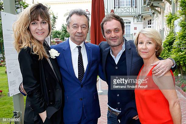 Daphne Burki Michel Denisot Augustin Trapenard and Ariane Massenet attend the Hotel Normandy ReOpening at Hotel Normandy on June 18 2016 in Deauville...