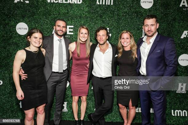 Daphne Corboz Juan Pablo Raba Sarah Killion Kyle Schmid Sarah Killion and Barry Sloane attend the 2017 AE Networks Upfront At Jazz At Lincoln...