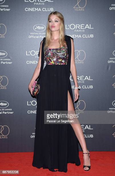 Daphne Groeneveld attends the Gala 20th Birthday Of L'Oreal In Cannes during the 70th annual Cannes Film Festival at Martinez Hotel on May 24 2017 in...