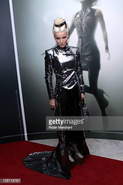 Daphne Guiness attends the 'Daphne Guiness' Exhibition Opening at The Museum at FIT on September 15 2011 in New York City