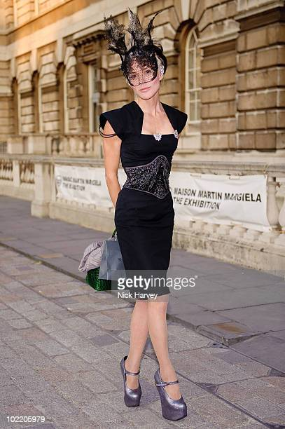 Daphne Guiness attends the Maison Martin Margiela '20' Exhibition at Somerset House on June 2 2010 in London England