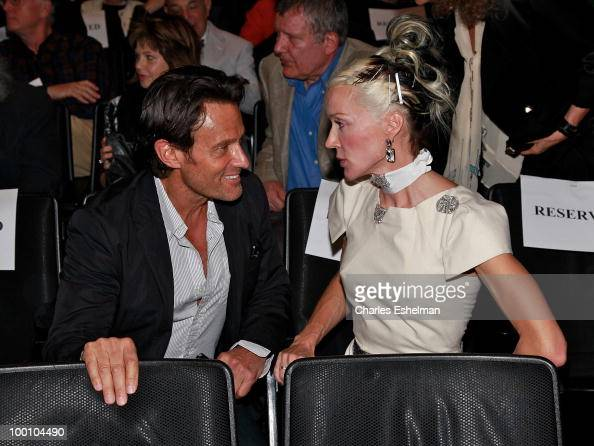 Daphne Guinness and guest attends a screening of 'The Making of 'Last Year at Marienbad' hosted by Diane von Furstenberg and BernardHenri Levi to...