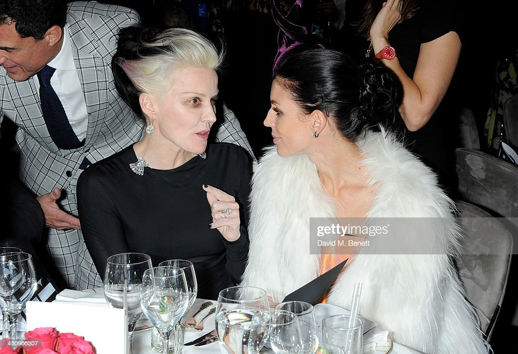 <a gi-track='captionPersonalityLinkClicked' href=/galleries/search?phrase=Daphne+Guinness&family=editorial&specificpeople=213037 ng-click='$event.stopPropagation()'>Daphne Guinness</a> (L) and <a gi-track='captionPersonalityLinkClicked' href=/galleries/search?phrase=Liberty+Ross&family=editorial&specificpeople=211135 ng-click='$event.stopPropagation()'>Liberty Ross</a> attend the Isabella Blow: Fashion Galore! charity dinner hosted by the Isabella Blow Foundation at Claridges Hotel on November 19, 2013 in London, England.