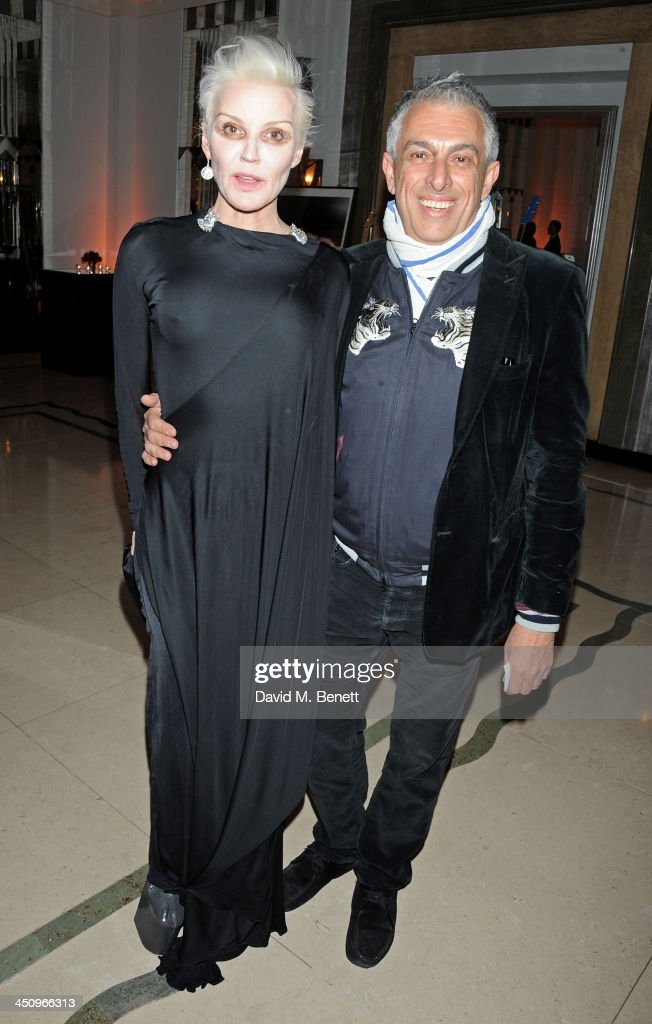 <a gi-track='captionPersonalityLinkClicked' href=/galleries/search?phrase=Daphne+Guinness&family=editorial&specificpeople=213037 ng-click='$event.stopPropagation()'>Daphne Guinness</a> (L) and Rifat Ozbek attend the Isabella Blow: Fashion Galore! charity dinner hosted by the Isabella Blow Foundation at Claridges Hotel on November 19, 2013 in London, England.