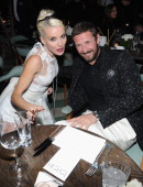 Daphne Guinness and Stefano Pilatiattend a dinner hosted by W magazine and De Beers in celebration of Art Basel Miami at Soho Beach House on December...