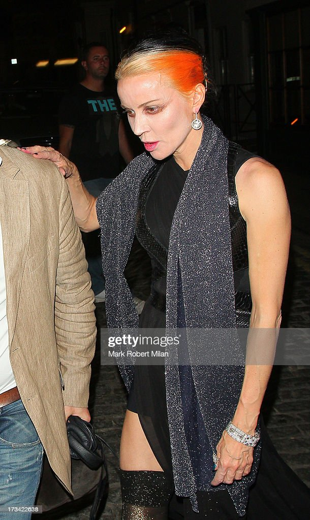 Daphne Guinness at Lou Lou's club on July 13, 2013 in London, England.