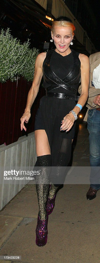Daphne Guinness at Loulou's club on July 13, 2013 in London, England.