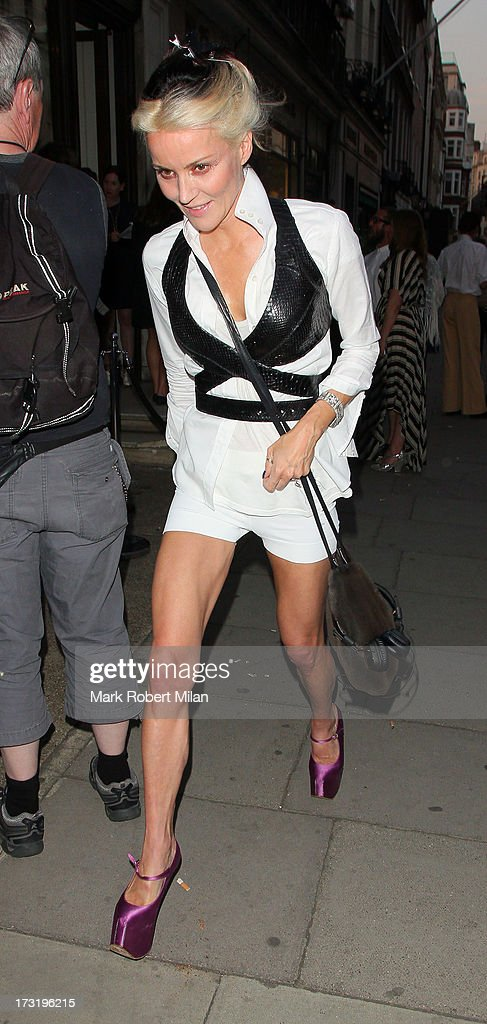 Daphne Guinness attending the Raw Instinct summer on July 9, 2013 in London, England.