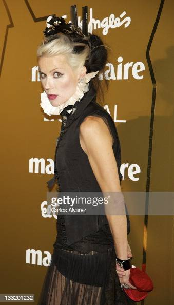 Daphne Guinness attends Marie Claire Prix de la Moda awards 2011 at French Embassy on November 17 2011 in Madrid Spain