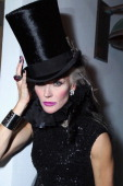 Daphne Guinness attends the Phillips De Pury dinner and dancing hosted by Simon de Pury at Cecconi's Soho Beach House Miami on December 1 2011 in...