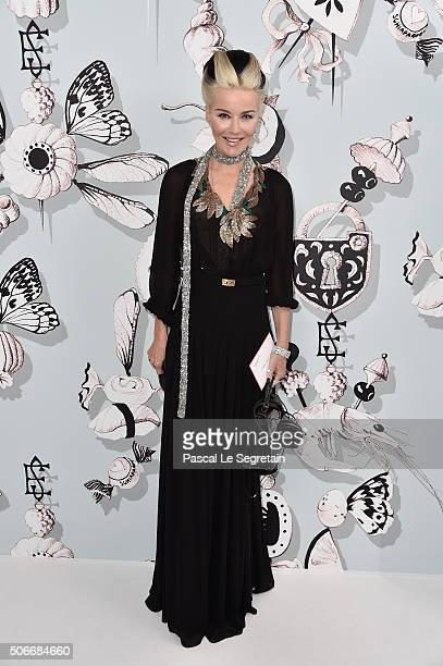 Daphne Guinness attends the Schiaparelli Haute Couture Spring Summer 2016 show as part of Paris Fashion Week on January 25 2016 in Paris France