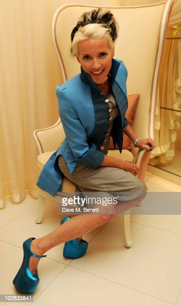 Daphne Guinness attends the semifinalists announcement for The Dorchester Collection Fashion Prize at The Dorchester Hotel on July 12 2010 in London...