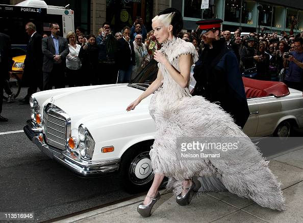 Daphne Guinness participates in The MET Gala in Madison Avenue Windows at Barneys New York on May 2 2011 in New York City