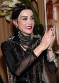 Daphne Guinness speaks at a press conference for Maybach presents David LaChapelle's 'Bliss Amongst Chaos' at the Raleigh Hotel on December 5 2009 in...