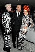 Daphne Guinness Tom Ford and Paloma Faith attend the launch of the new Tom Ford London flagship store on Sloane Street on September 15 2013 in London...
