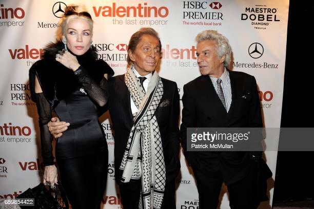 Daphne Guinness Valentino Garavani and Giancarlo Giammetti attend Celebration of the DVD release of VALENTINO THE LAST EMPEROR at The Standard on...