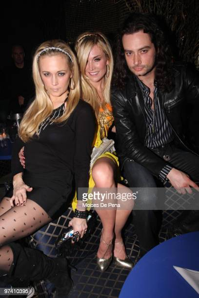 Daphne Mercer Tinsley Mortimer and Constantine Maroulis attends BonBon Tuesday at Juliet on March 2 2010 in New York City