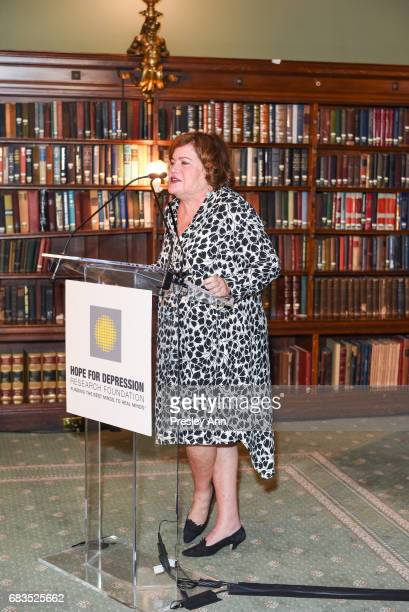 Daphne Merkin attends Audrey Gruss' Hope for Depression Research Foundation Dinner with Author Daphne Merkin at The Metropolitan Club on May 15 2017...