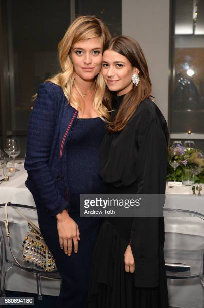 Daphne Oz and Amanda Alagem Accessories Director at Harper's BAZAAR attend as Harper's BAZAAR and THE OUTNETCOM Celebrate the opening of MoMA's...