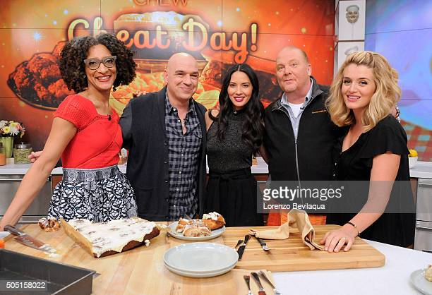 THE CHEW Daphne Oz brings her children Philomena and Jovan to the set of 'The Chew' Friday January 15 2016 THE CHEW airs MONDAY FRIDAY on the ABC...