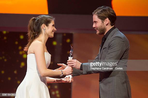 Daphne Patakia and Daniel Bruehl during the presentation of the European Shooting Stars 2016 as part of the 66th Berlinale International Film...