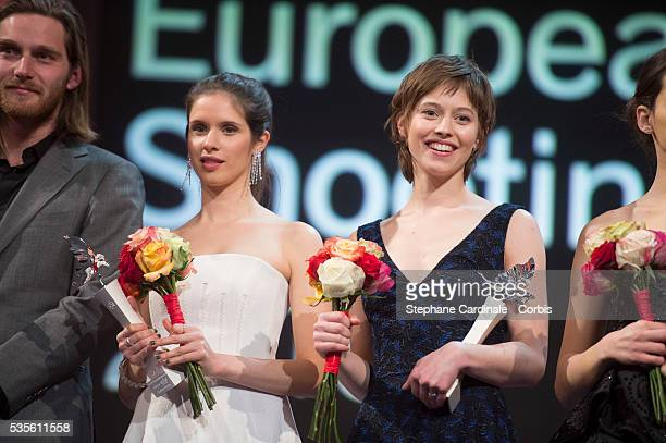 Daphne Patakia and Lou de Laage during the presentation of the European Shooting Stars 2016 as part of the 66th Berlinale International Film Festival...