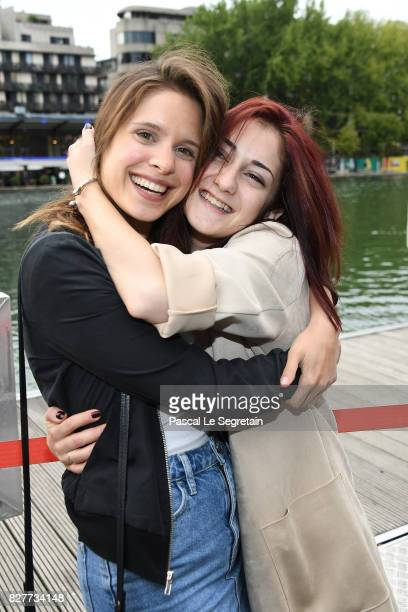 Daphne Patakia and Maryne Cayon attend the Paris Premiere of the film 'Djam' on August 8 2017 in Paris France