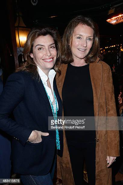 Daphne Roulier and Cecilia Attias attend 'La Closerie Des Lilas Literary Awards 2014 7th Edition' at La Closerie Des Lilas on April 8 2014 in Paris...