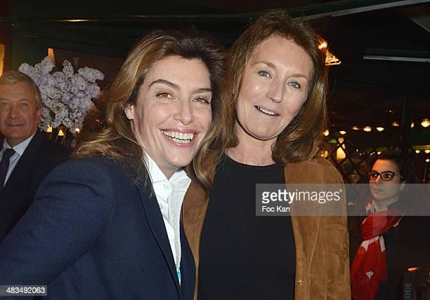 Daphne Roulier and Cecilia Attias attend La Closerie Des Lilas Literary Awards 2014 7th at La Closerie Des Lilas on April 8 2014 in Paris France