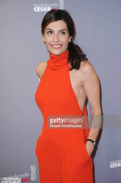 Daphne Roulier arrives at Cesar Film Awards 2013 at Theatre du Chatelet on February 22 2013 in Paris France