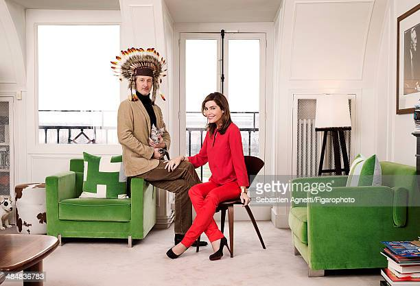 107545002 Daphne Roulier et Antoine de Caunes are photographed for Madame Figaro on September 3 2013 in Paris France PUBLISHED IMAGE CREDIT MUST READ...