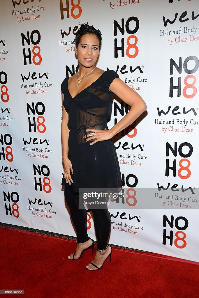 Daphne Wayans arrives at the NOH8?s 4th Anniversary celebration at Avalon on December 12, 2012 in Hollywood, California.