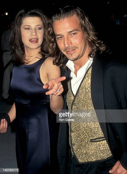 Daphne Zuniga and Billy Marti at the Vanity Fair Oscar Party Morton's Restaurant West Hollywood