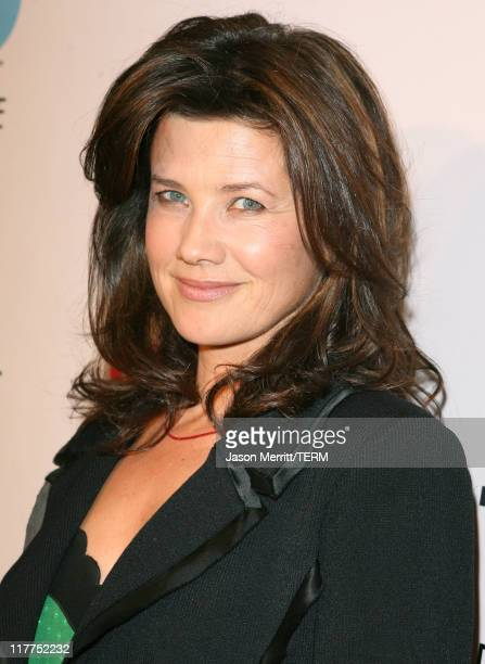 Daphne Zuniga during 'Beverly Hills 90210' and 'Melrose Place' DVD Launch Party Pink Carpet at Beverly Hilton in Beverly Hills California United...