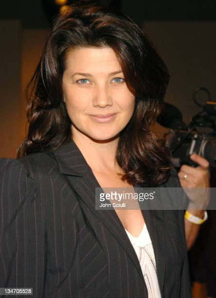 Daphne Zuniga during MercedesBenz Spring 2005 Fashion Week at Smashbox Studios Ella Moss Front Row at Smashbox Studios in Culver City California...