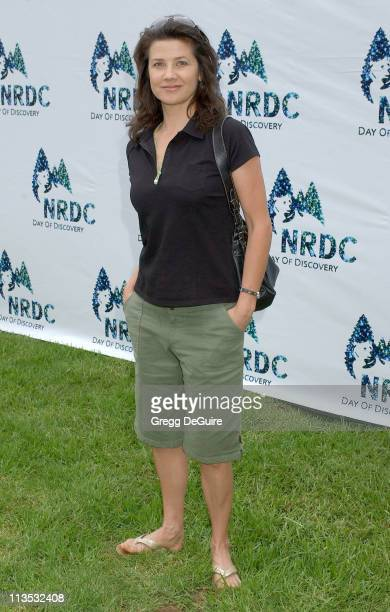 Daphne Zuniga during NRDC Day Of Discovery Fair Arrivals at Wadsworth Theater Grounds in Westwood California United States