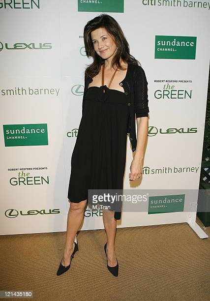 Daphne Zuniga during Sundance Channel Celebrates the Launch of 'The Green' Arrivals at Former LaBrea Chrysler Jeep in Los Angeles California United...