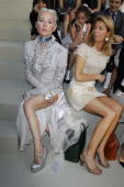 Daphnee Guinness attends the Chanel Haute Couture fashion show as part of the Paris Haute Couture Fashion Week Fall/Winter 2011 at Grand Palais on...