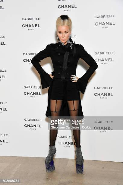 Daphnee Guinness attends the launch party for Chanel's new perfume 'Gabrielle' as part of Paris Fashion Week on July 4 2017 in Paris France