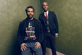 Dapper Dan and filmmaker Sacha Jenkins from 'Fresh Dressed' pose for a portrait at the Village at the Lift Presented by McDonald's McCafe during the...