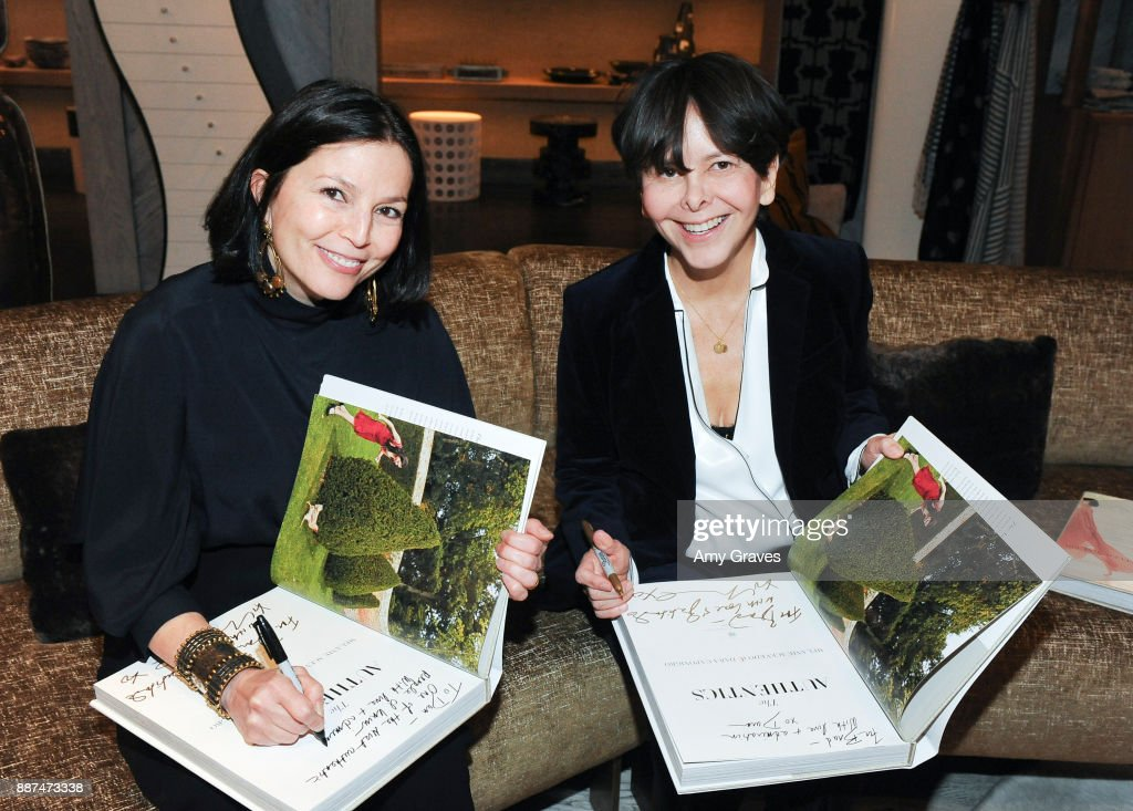 Dara Caponigro and Melanie Acevedo attend Kelly Wearstler hosts 'The Authentics' book signing launch party for Melanie Acevedo and Dara Caponigro at Kelly Wearstler Boutique on December 6, 2017 in West Hollywood, California.
