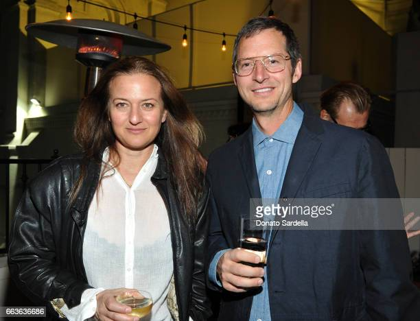 Dara Friedman and guest attend MOCA's Leadership Circle and Members' Opening of 'Carl Andre Sculpture as Place 19582010' and 'Arthur Jafa Love Is The...