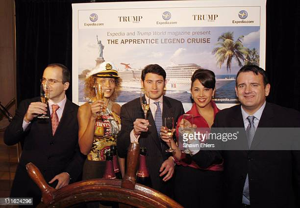 Dara Khosrowshahi CEO of Expediacom and Michael Jacobson editor/publisher of Trump World Magazine with Stacie Jones Upchurch Raj Bhakta and Jennifer...